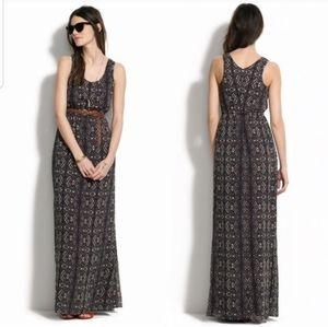 Madewell lace print maxi dress